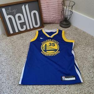 Boys Golden State Warriors Durant Jersey Size Medium
